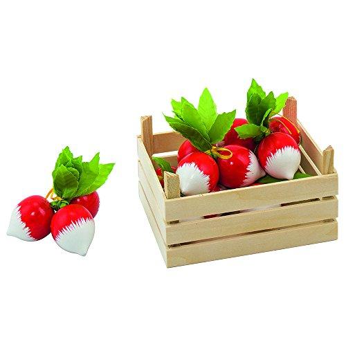 Goki 51672 - Kaufläden und Zubehör - Radieschen, Gemüsekiste