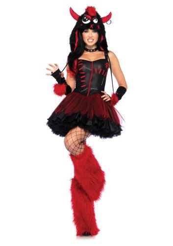 Leg Avenue 85163 - Rebel Monsterkostüm, Größe (Monster Kostüme Leg Avenue)