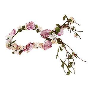 B Baosity Frauen Mädchen Blumen Kranz Krone Haarband Girlande Blumenkrone Haarkranz Blumenstirnband