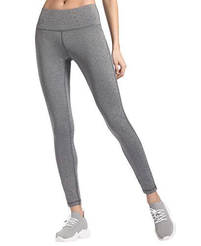 QUEENIEKE Damen Power Flex Yoga Hosen Training Laufende Leggings Farbe Graue Melange Größe S(4/6) - Graue Winter-wrap