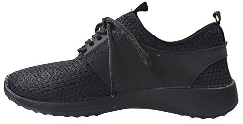 CAPRIUM Unisex Sportschuhe, Sneaker, Laufschuhe, Schuhe, Damen, Herren 11374 Schwarz