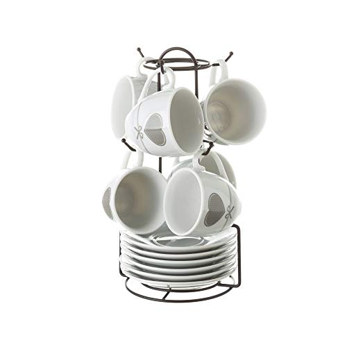 Tazas de café de Porcelana Grises románticas para Cocina Factory - LOLAhome