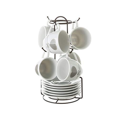 Tazas de café de Porcelana Grises románticas para Cocina Factory - L