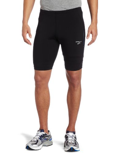 Brooks Herren Infiniti Short Tight, Herren, Black/Olympic (Brooks Tights)