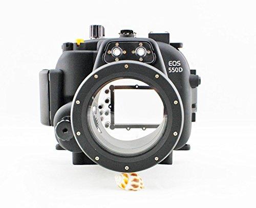 hofoo Unterwasser 40m/130T Tauchen Kamera Displayschutzfolie für Canon 550D/T2i für Canon EOS DSLR Kamera 18–55mm (Film Maske Für Verkauf)