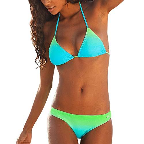 uk availability 640ac a19ba Darringls Costumi da Bagno Donna Bikini a Triangolo Sexy Costumi Donna Mare  Due Pezzi Push Up Donna Interi Taglie Forti Bikini 2019 Donna Swimwear ...