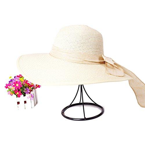 Version coréenne du chapeau de paille tissée en été/Chapeau/Grosse garniture bloquent/Chapeaux de plage E