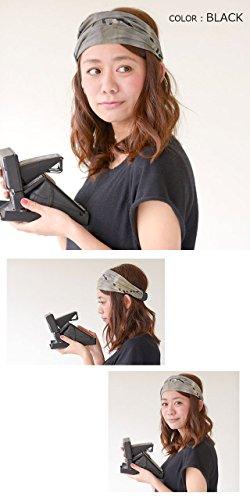 Casualbox Femme bandeau bandana bande main teint Japonais cheveux Kaki