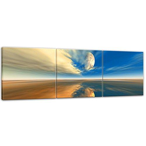 Kunstdruck - Himmel - Bild auf Leinwand - 180 x 60 cm 3tlg - Leinwandbilder - Bilder als Leinwanddruck - Wandbild von Bilderdepot24 - Urban & Graphic...