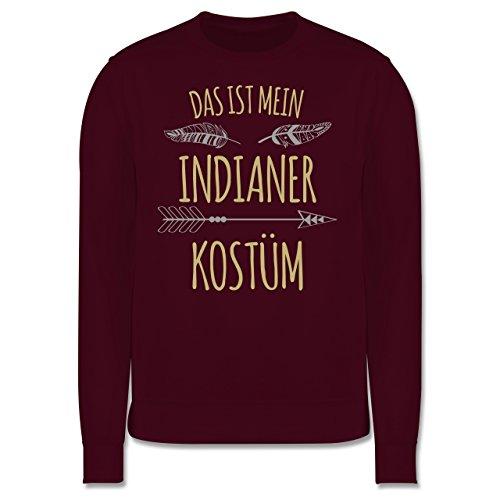 Karneval & Fasching - Das ist mein Indianer Kostüm - Herren Premium Pullover Burgundrot