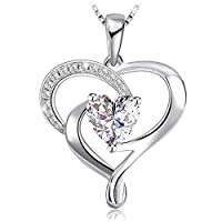 Swarovski Elements 925 Sterling Silver Pendant Necklace for female women lady girl Gift Jewelry JR889
