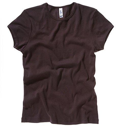 Bella+Canvas Baby rib short sleeve crew neck t-shirt Chocolate