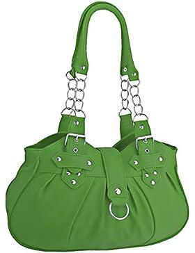 EyeCatchBags - Huron Damen Schultertasche / Handtasche aus Kunstleder