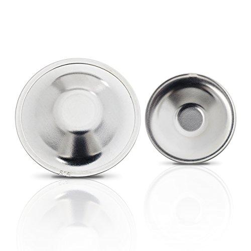 Silver Cap® - Medizinische Stillhütchen / Stilleinlagen zur schnellen Behandlung wunder Brustwarzen während der Stillzeit, 999er Silber, 2 Stück