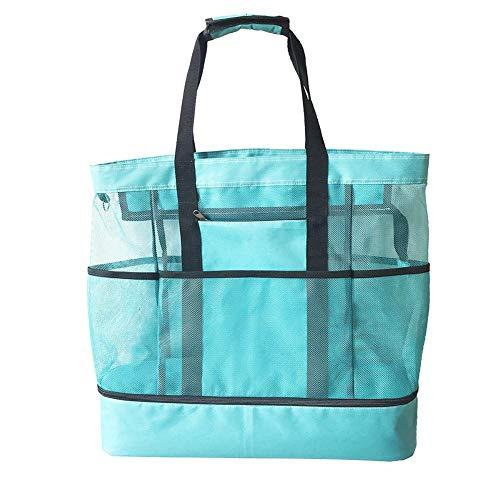 Holywonder Große Einzel-Umhängetasche Tragbare Doppelschicht-Eisbeutel Beach Camping Lunch Bag -