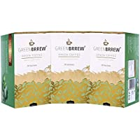 Greenbrrew Healthy 100% Natural Instant Coffee - Manages Blood Sugar Levels, Catalyst for weight Loss, Reduces Blood Pressure Levels and Protects the Heart - each pack 60g (20 Sachets PP) - Pack of 3