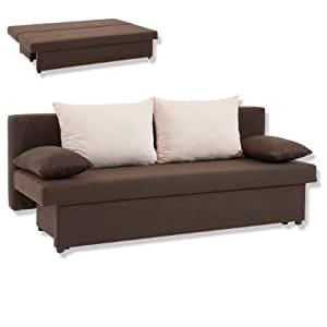 ROLLER Funktionssofa EMMA braun Sofa Bett: Amazon.de