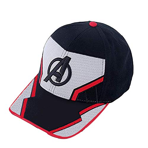 Pandacos The Avengers Endgame Mütze Quantum Baseball Cap 100% Cotton Verstellbar Atmungsaktiv Unisex Hat Cosplay Zubehör Style A
