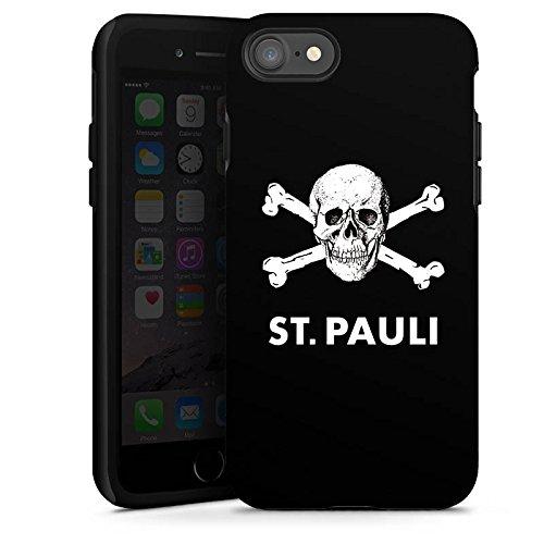 Apple iPhone 8 Plus Silikon Hülle Case Schutzhülle FC St. Pauli Fanartikel Fußball Tough Case glänzend