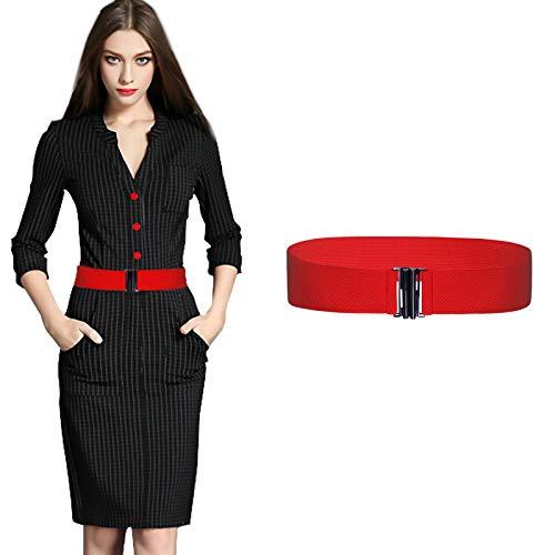 Rotes Kleid Für Kinder - Kajeer Damen Breit Elastisch Schnalle Gürtel