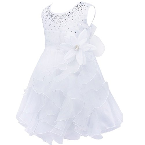 iiniim Blumenmädchenkleid Kinder Mädchen Kleid Brautjungfern Hochzeitskleid Festlich Partykleid...