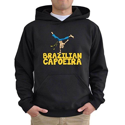 Felpe con cappuccio Brazilian capoeira Nero