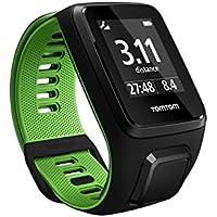 TomTom RUNNER 3 - Montre de Sport GPS - Bracelet Fin - Noir/Vert
