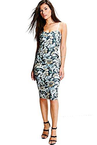 Multi Damen Naomi Sweetheart Hals Blumen Midi Kleid - 8 (Cami Embellished)