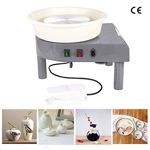 HUKOER 350W Töpferscheibe Töpfern Nähmaschine DIY Clay Tool für Keramik Clay Art Craft (Gray)