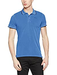 Pepe Jeans PM540815, Polo Para Hombre, Azul (Middle Blue), Large