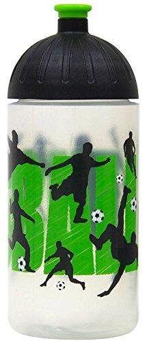 ISYbe Original Marken-Trink-Flasche für Klein-Kinder, 500 ml, BPA-frei, Fußball-Motiv für Mädchen & Jungen, für Schule-Reisen-Kita-Kiga-Outdoor, Auslaufsicher auch mit Sprudel, Spülmaschine-fest (Spülmaschine Flasche Baby)