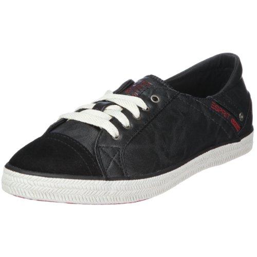 ESPRIT Megan Lace up O13010 Damen Sneaker Schwarz/Black