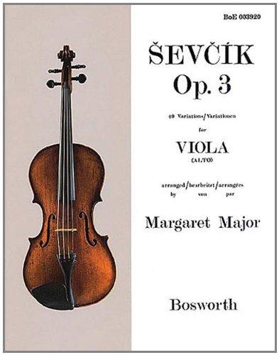 Sevcik Viola Studies: 40 Variations