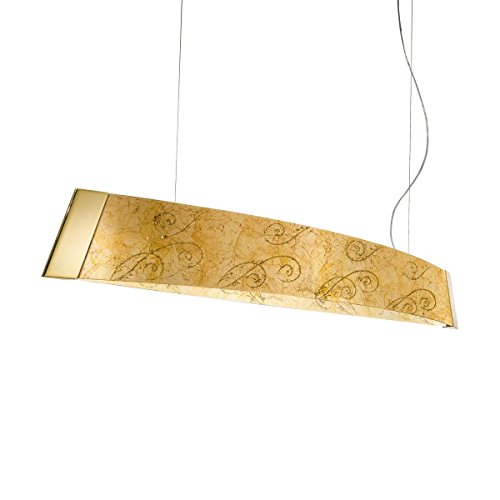Balkenleuchte BARCA II Medici von KOLARZ, 2-flammig, LED, Gold, 2295.32.3/me30 - Pendelleuchte Medici