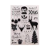 #8: Silicone Clear Stamps Cling Seal Sheet Christmas Theme Pattern Stamps for DIY Scrapbooking Photo Album Diary Decoration (T1340)