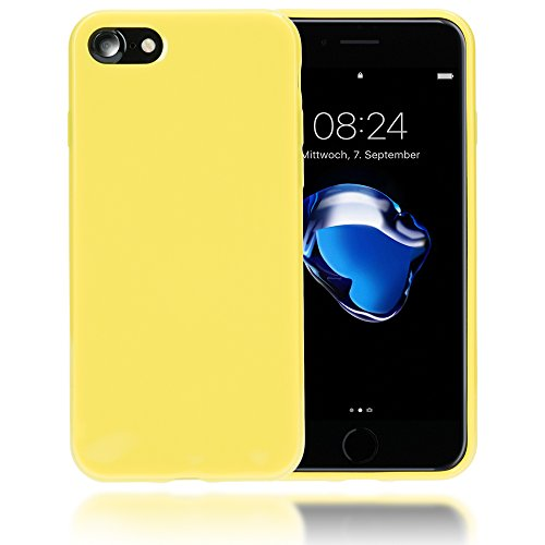 delightable24 Protezione Cover Case in Silicone TPU Jelly per Smartphone APPLE IPHONE 7 - Giallo