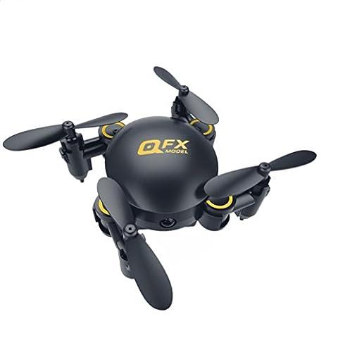 Ularma Q2 Mini 4-Axis 2,4 GHz 0.3 MP HD Camera WiFi Sans Tête Drone 3D Flip RC UAV (noir)