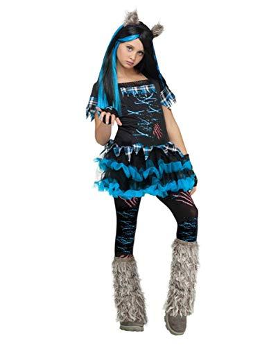 Horror-Shop Miss Werwolf Kostüm für Mädchen - Kinderkostüm S (Werwolf Kostüm Mädchen)