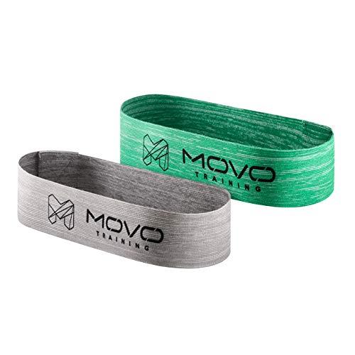 MOVO Mini Band Set Optimum+Hard   30 x 5 cm   Fitness-Bänder von verschiedenen Stärken   Dehnungsbänder für Krafttraining   Waschmaschinenfest   Für Profis und Amateure   Baumwollsack kostenlos