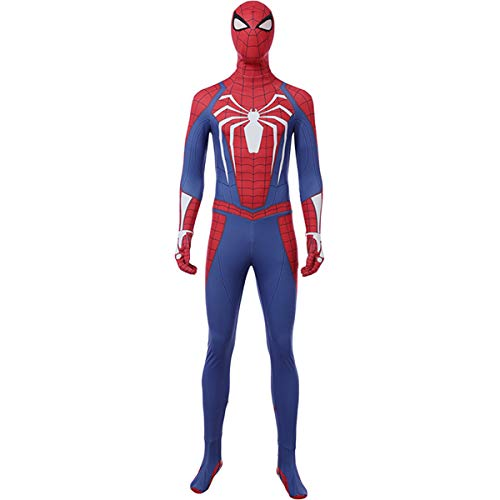 QWEASZER Spider-Man PS4 Kampf Engen Body Halloween Cosplay Kostümfest Kostüm Anime Film Bühnenauftritt Onesies Kleidung,Spiderman-XXXL (Spiderman Kostüm Kämpfen)