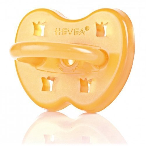 Hevea Crown Round Latex Pacifier 0-3 months by GroVia (English Manual)