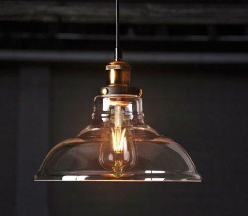 Lampada a sospensione vintage Feven lampadario stile illuminazione industriale con lampadina modello Edison (inclusa)