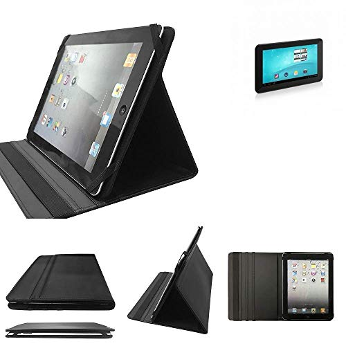 K-S-Trade TrekStor SurfTab Breeze 7.0 Schutz Hülle Business Case Tablet Schutzhülle Flip Cover Ultra Slim Bookstyle Tasche für TrekStor SurfTab Breeze 7.0, schwarz. Kunstleder Qualitä