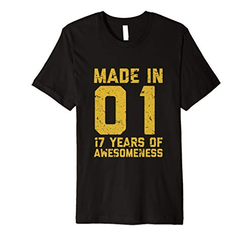 17th Birthday Tshirt Boy Age Seventeen 17 Year Old Son Gift