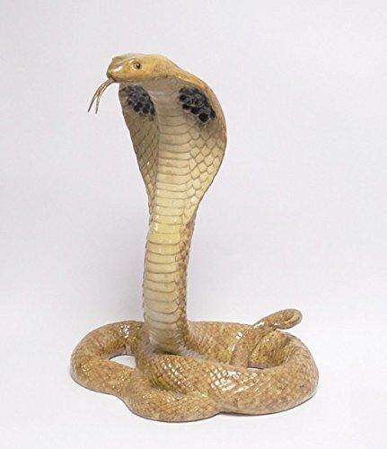 Ellas-Wohnwelt Bronze Porzellan Schlange Cobra Geringelt Natter Giftschlange Wald Dschungel - Ella Schlange