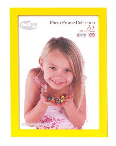 Inov8 PFVS-CAYE-A4 Traditionell Briten Foto und Bilderrahmen, A4 Zertifikat, value canary gelb