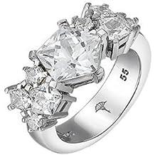 925 star Sterling argento zirconi Shine Joop in Anello donna bianco rodiato con da 1RWqaBY