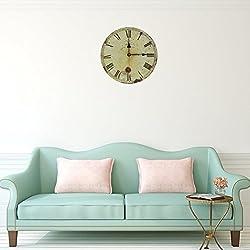 Soledi® Vintage reloj de pared 12pulgadas de madera números arábigos silencioso Non-ticking grande decorativo para salón oficina bar decoración del hogar regalo estilo Toscano