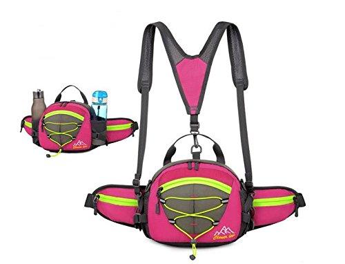 Zll/Sport all' aperto da viaggio borsa tracolla Slung Corsa Portatile Zaino da escursionismo, arancione rosa