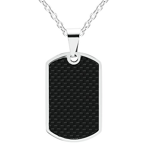 bishilin-stainless-steel-rectangle-dog-tag-pendant-necklace-with-carbon-fiber-for-men-women-size-19x